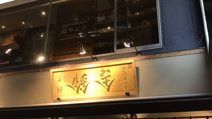 逆さの看板?孫作でつけ麺(新橋でランチ25)