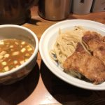 天ぷらの乗ったつけ麺 麺屋武蔵 二天 in 池袋