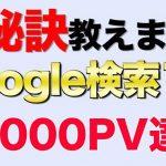 Google検索で1位をとるとアクセス数4倍!ページビュー1ヶ月で60000PV達成!!検索順位1位を取る方法大公開!!